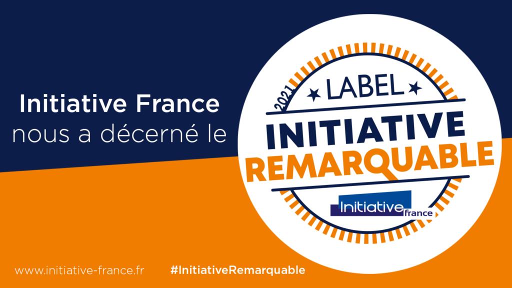Logo du label Initiative Remarquable 2021 remis par Initiative France